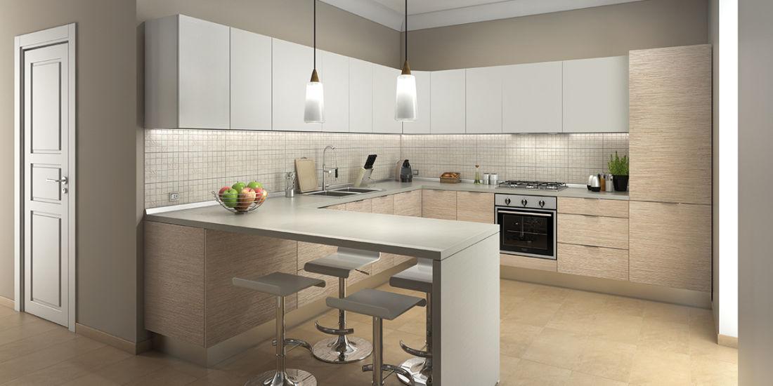 Top Arredare una cucina con penisola in stile classico e moderno KT93