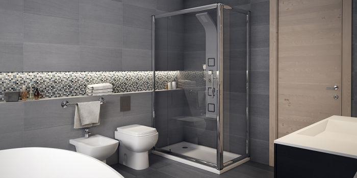 come arredare un bagno moderno grande con vasca e doccia fai da te ... - Bagni Con Doccia Moderni