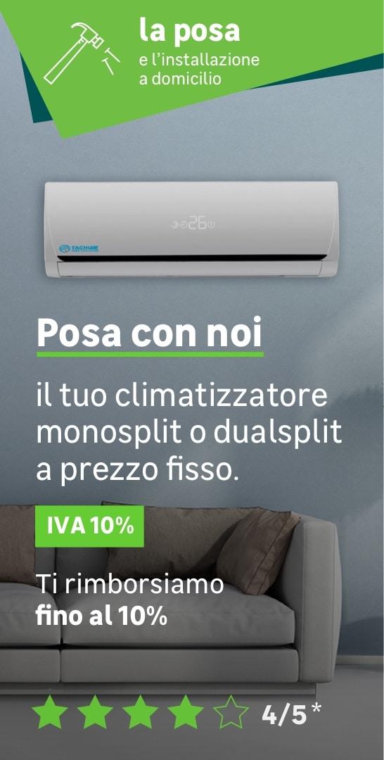 Posa a prezzo fisso climatizzatore
