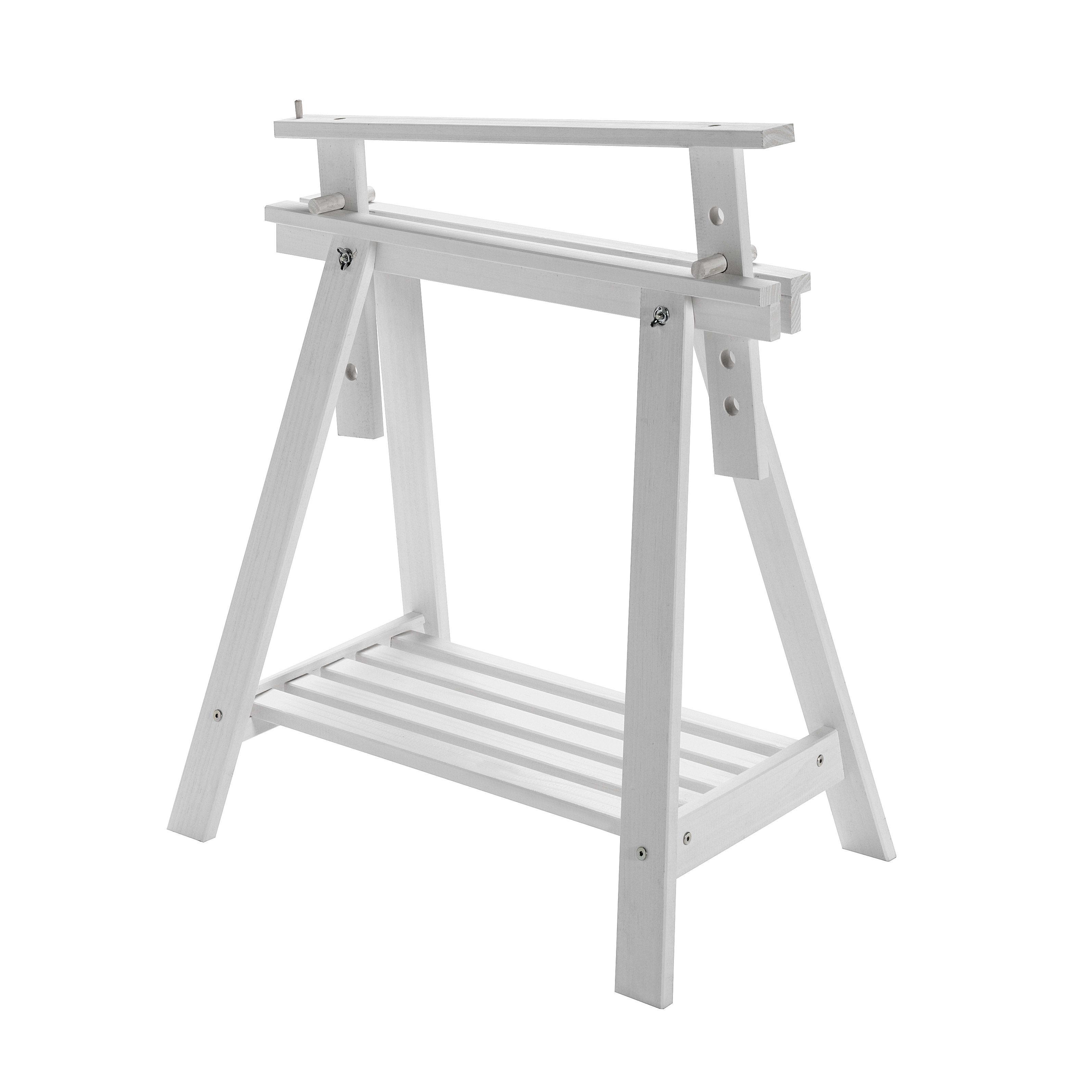 Cavalletto pino Archi Tec H 70 x P 70 x L 45 cm bianco prezzi e offerte  online  d3cacb091449