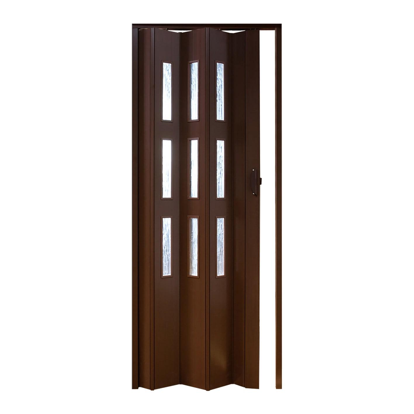 Porta A Soffietto Vetrata Basic Noce L 83 X H 214 Cm Prezzi E