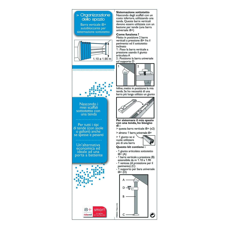Bastoni Per Tende Con Ventose.Bastone Per Tenda In Kit Bianco O 20 Mm L 180 330 Cm Prezzi E