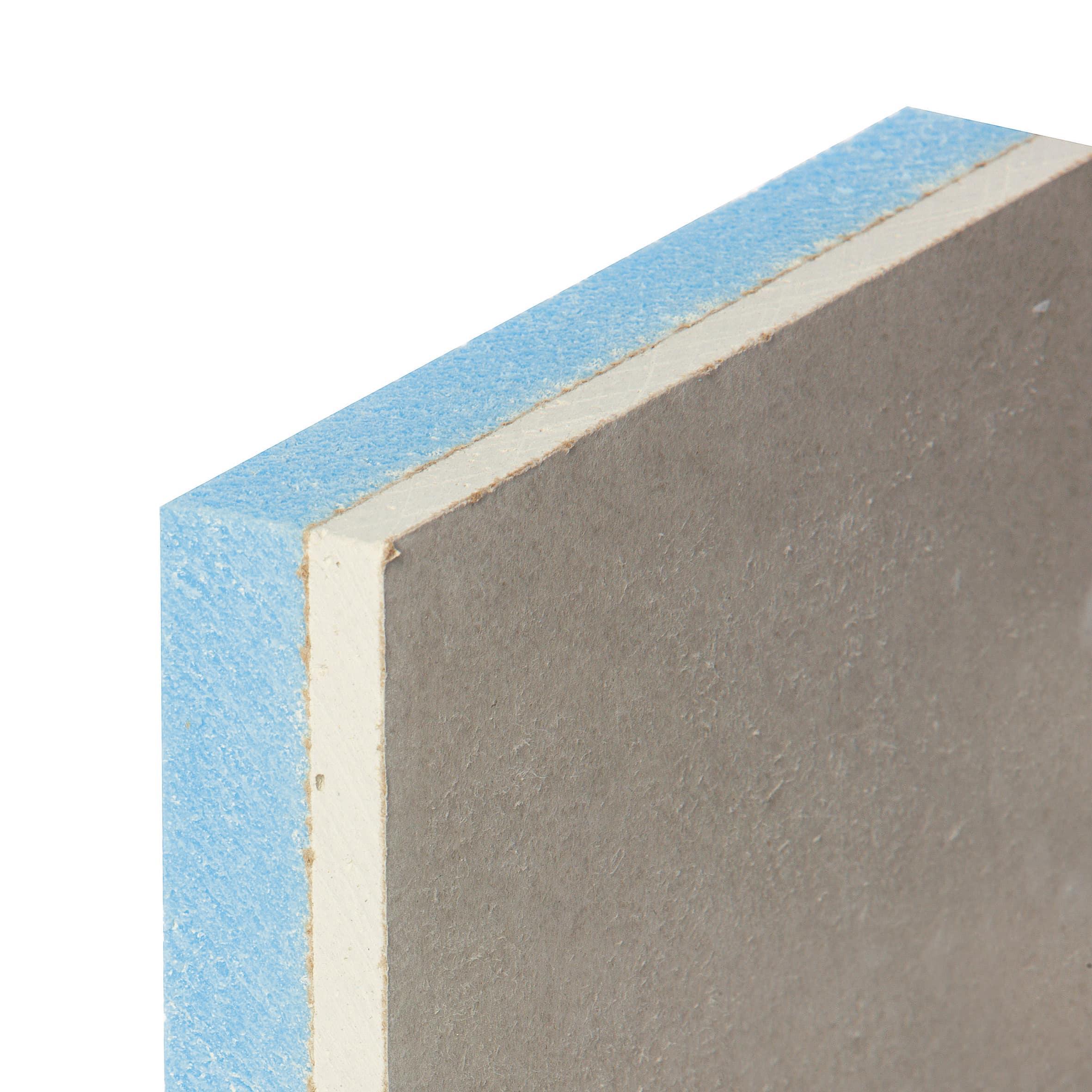 Lastra Di Cartongesso Accoppiata Con Isolante 120 X 200 Cm Spessore