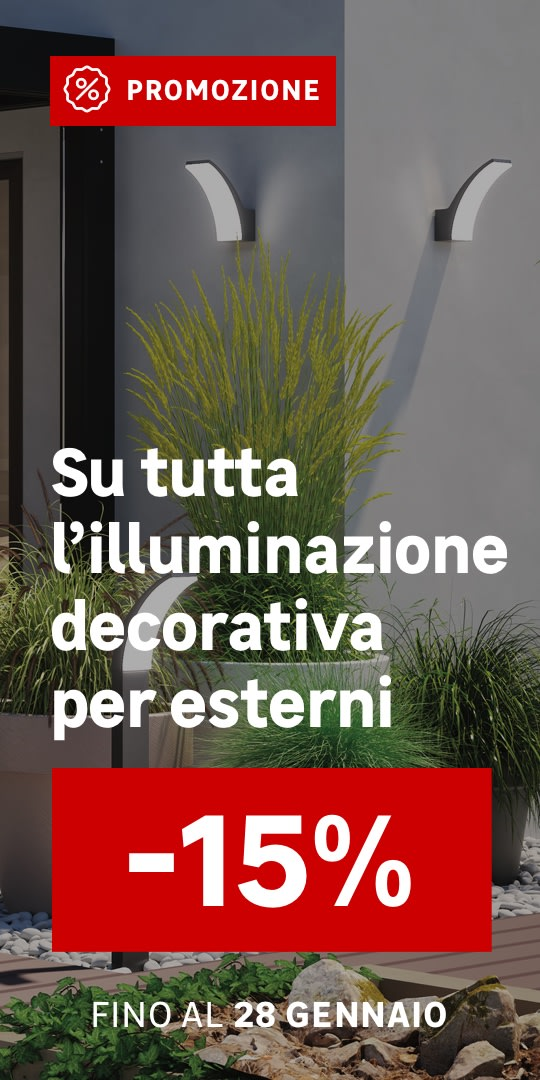 Promo illuminazione decorativa per esterni