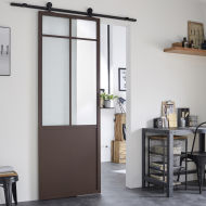 Porta da interno scorrevole Bizet grezza 96 x H 270 cm reversibile ...