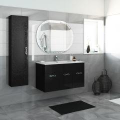 bagno mobile bagno miami nero l 100 cm 35924280