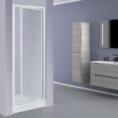 Porta doccia elba 1 anta a battente stampato bianco 73 77 for Porta doccia a libro leroy merlin