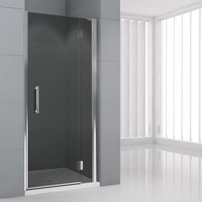 Porta doccia battente Modulo 148-151, H 195 cm cristallo 6 mm fumè ...