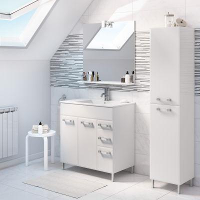 Mobile bagno opale bianco l 80 cm prezzi e offerte online for Mobili bagno 80 cm