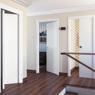 Porta da interno battente Pearl bianco 80 x H 210 cm reversibile ...