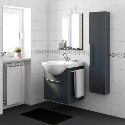 Mobile bagno Ginevra grigio scuro L 58 cm: prezzi e offerte online