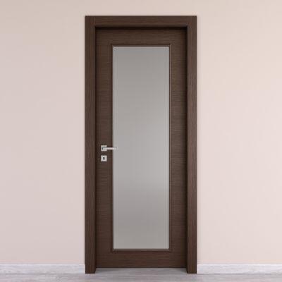 Porta da interno battente Timber vetro Fumo 90 x H 210 cm ...