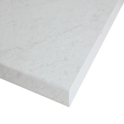 Piano cucina su misura laminato Marmo Apuano bianco 4 cm: prezzi e ...