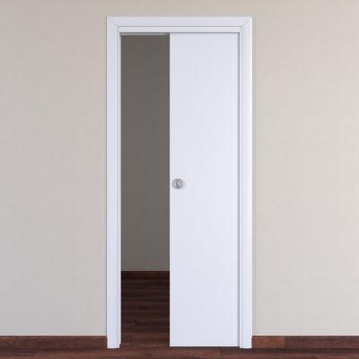 Porta da interno scorrevole Pearl bianco 60 x H 210 cm reversibile ...