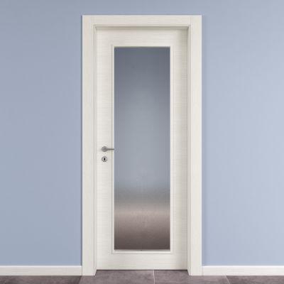 Porta da interno battente Star Vetro Bianco Matrix 60 x H 210 cm ...