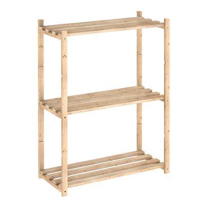 Scaffale legno 3 ripiani L 65 x P 30 x H 88 cm: prezzi e offerte ...