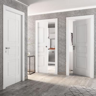 Porta da interno scorrevole Alioth bianco 70 x H 210 cm reversibile ...