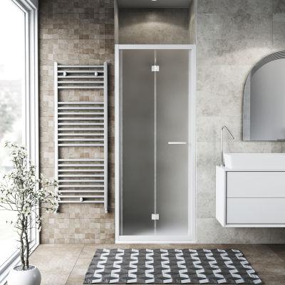 Porta doccia Record 67-71, H 195 cm vetro temperato 6 mm satinato ...