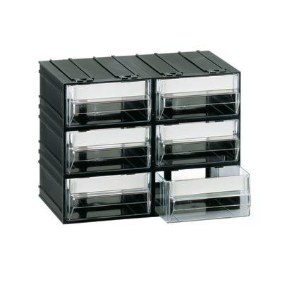 cassettiera 6 cassetti nero 225 x 133 x 169 mm: prezzi e offerte online