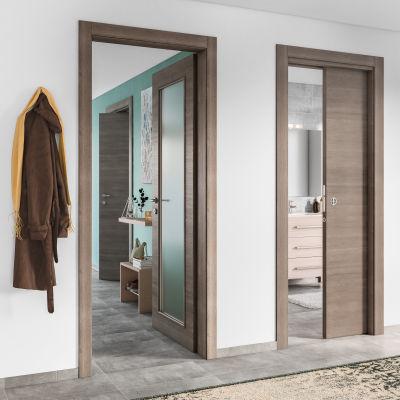 Porta da interno scorrevole Stylish grigio 70 x H 210 cm reversibile ...