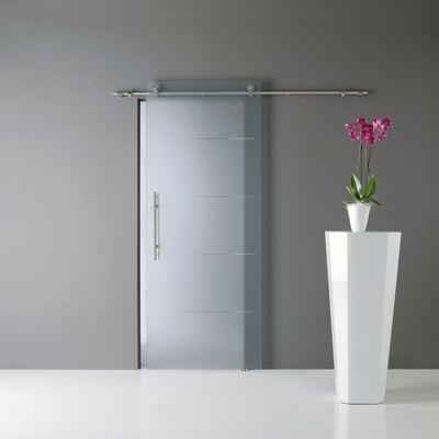 Porta da interno scorrevole Auriga trasparente 86 x H 220 cm dx ...