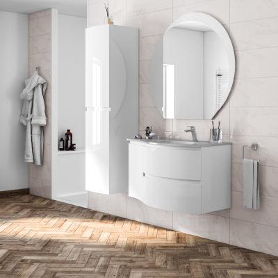 Mobile bagno Vague bianco L 104 cm: prezzi e offerte online