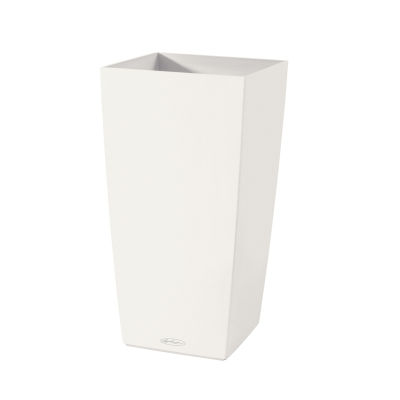vaso cubico color lechuza 30 x 30 cm bianco: prezzi e offerte online