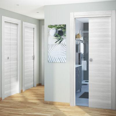 Porta da interno scorrevole Pigalle palissandro bianco 70 x H 210 cm ...
