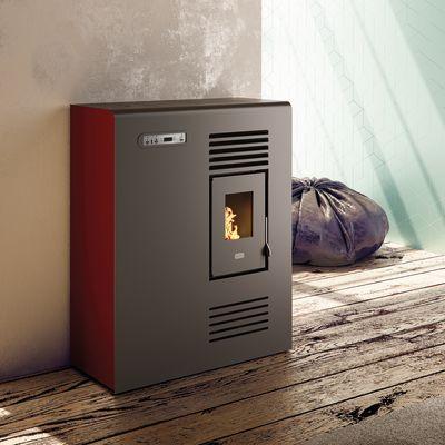 Stufa a Pellet Tina 4,5 kW rosso: prezzi e offerte online