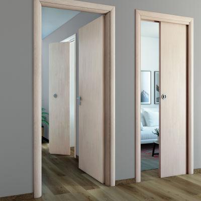 Porta da interno battente Notting Hill pino sbiancato 90 x H 210 cm ...