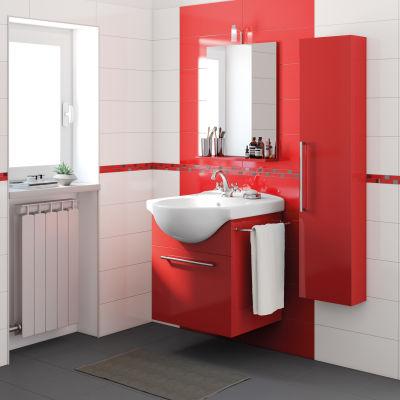 Mobile bagno Ginevra Rosso Lampone L 58 cm: prezzi e offerte online