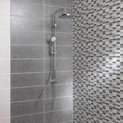 Piastrella sirio 20 x 50 antracite prezzi e offerte online for Piastrelle bagno mosaico grigio