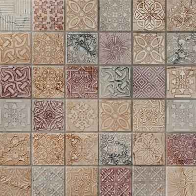 Bagno Mosaico Badges 30 X 30 Cm Rosa, Bianco, Grigio 35423871_1_thumb
