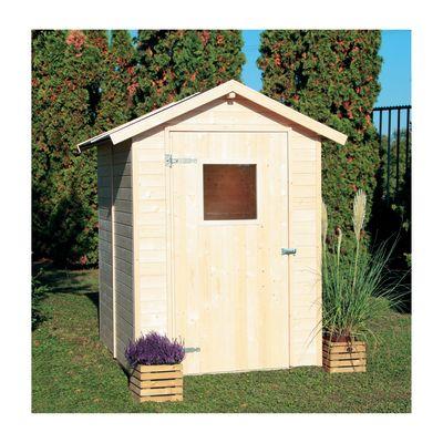 Casetta in legno grezzo tata 2 55 m spessore 14 mm for Casetta legno bambini leroy merlin