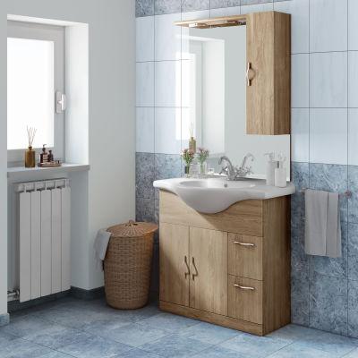 Mobile bagno Blanca rovere L 85 cm: prezzi e offerte online
