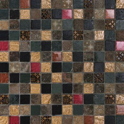 Mosaico Patchwork 30 x 30 cm nero, grigio, rosso, oro: prezzi e ...