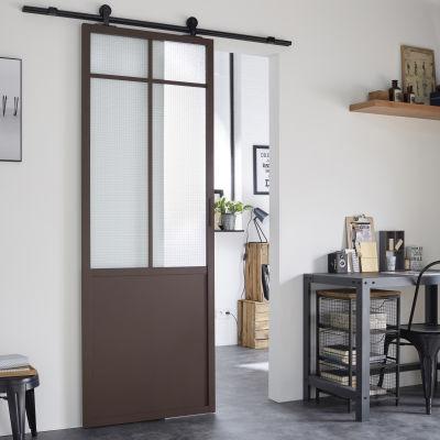 Porta da interno scorrevole Work marrone 86 x H 215 cm sx: prezzi e ...