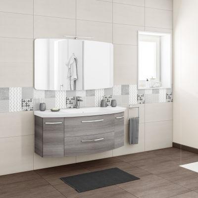 Mobile bagno Cassca grigio sangallo L 121 cm: prezzi e offerte online