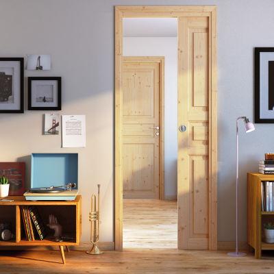 Porta da interno scorrevole Beethoven grezza 90 x H 210 cm ...