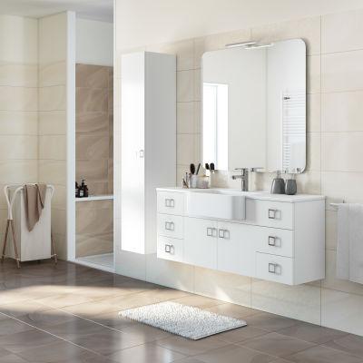 Mobile bagno Florida bianco L 130 cm: prezzi e offerte online