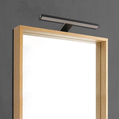 Luce da specchio Slim con kit multi attacco nero 50 cm 7,8 W 550 ...