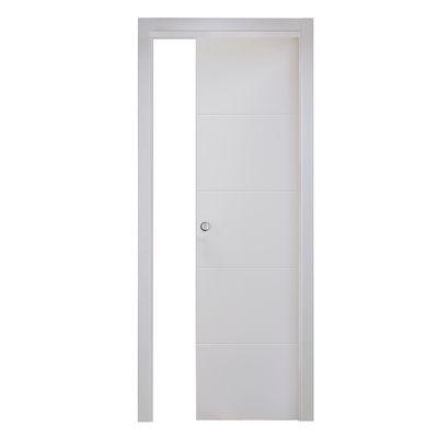Porta da interno scorrevole Prado bianco 80 x H 210 cm reversibile ...