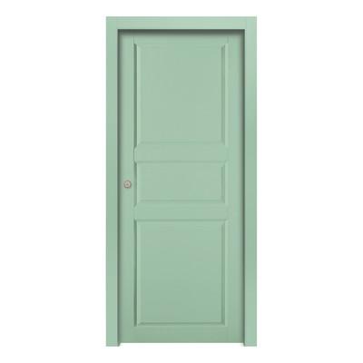 Porta da interno scorrevole new york green verde 90 x h 210 cm reversibile prezzi e offerte online - Porta scorrevole da interno ...