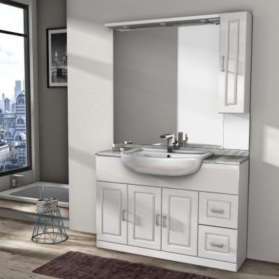 Mobile bagno paola bianco l 120 cm prezzi e offerte online - Prezzi sanitari bagno leroy merlin ...