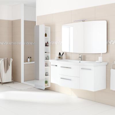 Mobile bagno contea bianco l 137 cm prezzi e offerte online - Offerte mobile bagno ...