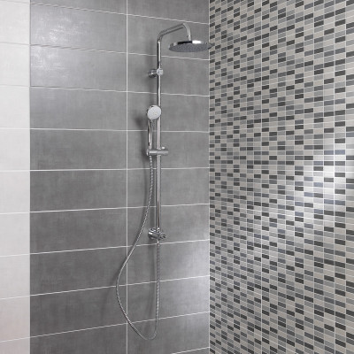 Piastrella sirio muretto 20 x 50 multicolor prezzi e for Piastrelle bagno mosaico grigio
