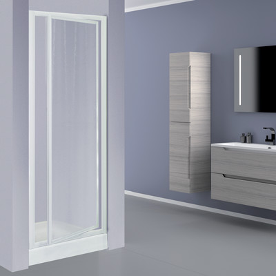 Porta doccia elba 1 anta a battente stampato bianco 78 82 for Miscelatore doccia leroy merlin