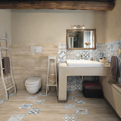 Piastrella oural 20 x 60 beige naturale prezzi e offerte online - Piastrelle leroy merlin bagno ...