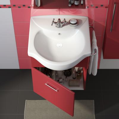 Mobile bagno ginevra rosso l 58 cm prezzi e offerte online - Mobile bagno rosso ...