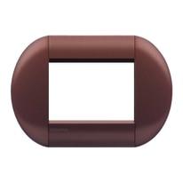 Placca 3 moduli BTicino Livinglight marrone